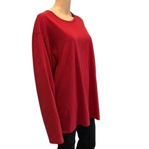 Rough Dress basic red long sleeve shirt size xxl